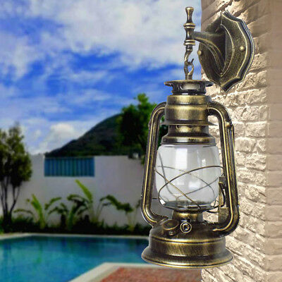 Retro Lantern Antique Vintage Rustic Lamp Wall Sconce Light Fixture Home Out NEW