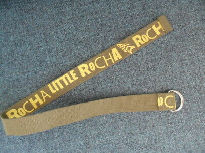 'Little Rocha' Boys Space Rocket Khaki Yellow Canvas Webbing D Ring Belt 24/25""
