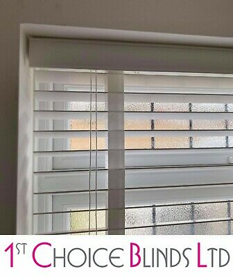 Made To Measure Wooden Venetian  Blind Brilliant White Wood With Tapes 35Mm Slat