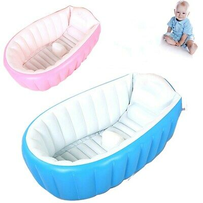 Inflatable Baby Bath Tub Children Kids Travel Infant Washing Wash Tub Shower UK