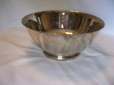 "Paul Revere Fb Rogers Reproduction Plated 8"" Footed Bowl"