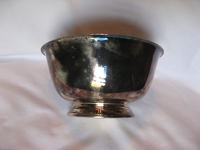 "Oneida Paul Revere Reproduction Plated 6"" Footed Bowl"