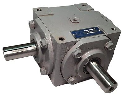 Spiral Bevel 2:1 Right Angle Gearbox Gear Reducer w// 2keyed Shaft 15mm,DHL Free