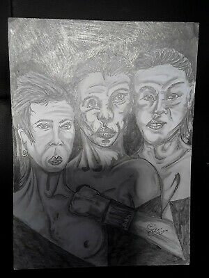 Original pencil drawing. Bosted by Chris Challinor. Abstract.