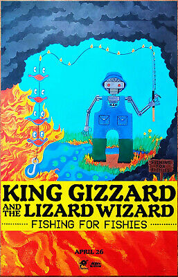 KING GIZZARD + THE LIZARD WIZARD Fishing For Fishies 2019 Ltd Ed New RARE Poster