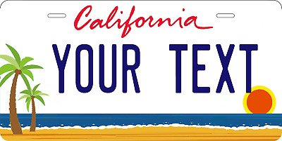 Personalized California state custom any text aluminum license plate,with frame