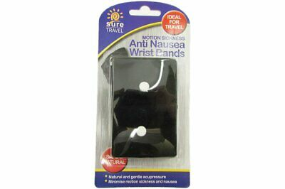Sure Travel Anti Nausea Wrist Bands Pack of 2 Motion Sickness