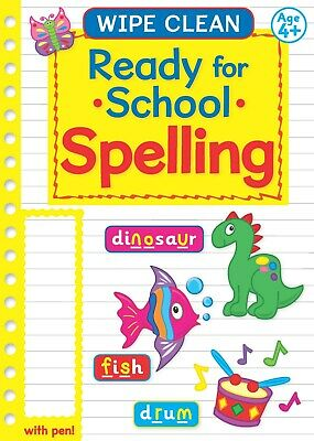 Learn to Spelling Wipe Clean Book  Erase Wipe CleanPen Kids Pre School children