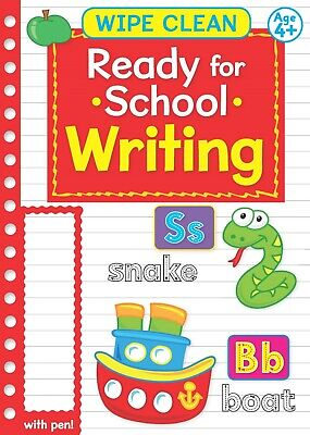 Learn to Write ALPHABET/ NUMBER Wipe Clean Book Dry Erase Pen Kids Pre School