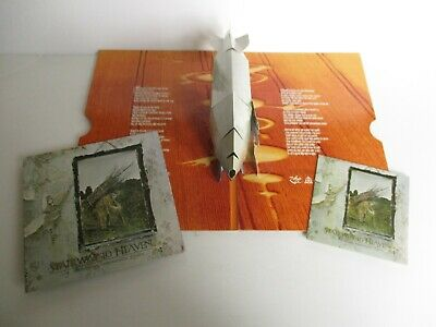 "LED Zeppelin Escalera Al Cielo CD + 7"" Vinilo Xx Ann.ltd Ed Dlx Pop Up Arte"