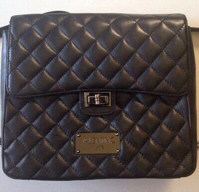 64dcea15560 Mario Valentino SPA Women's Black Dora Quilted Leather Backpack Bag $1095