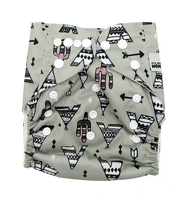 Modern Cloth Reusable Washable Baby Nappy Diaper & Insert, TeePee