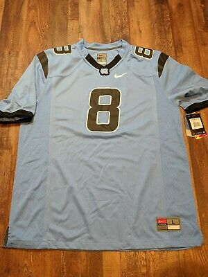 e012b461b4f NEW Nike NORTH CAROLINA TAR HEELS UNC Blue Football Jersey Men's L NWT $90
