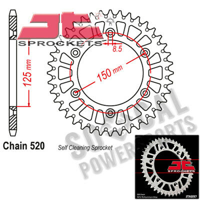 ZF Rear Sprocket 38T 520P Dual Gold KTM LC4-E 640 Supermoto 2000