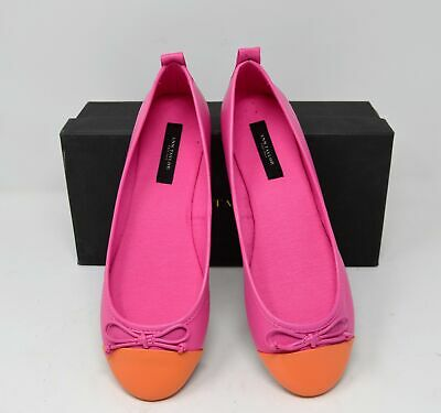 0e30dd8ab54d ANN TAYLOR CAMILA Sequin Bow Flat Shoes Suede Pink 8 $138 - $29.99 ...