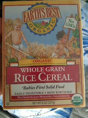 EARTHS BEST ORGANIC WHOLE GRAIN RICE BABY CEREAL 8 OZ BOX NON GMOExpires7/16/19