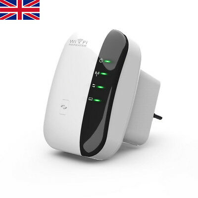 Wireless 300Mbps N 802.11 AP Wifi Range Extender Router Repeater Booster UK Plug
