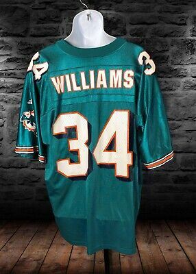 RICKY WILLIAMS MIAMI Dolphins Reebok Mens Jersey Large Navy Blue #34