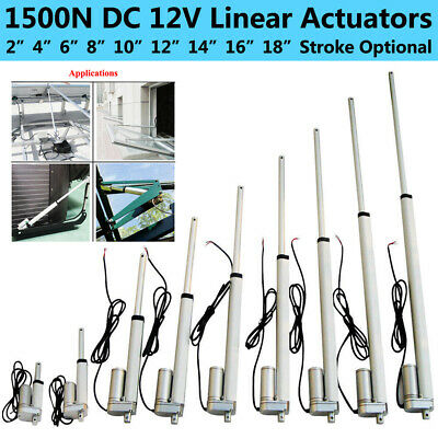 12V DC Linear Actuator 1500N Electric Motor Lift 50mm-450mm For Medical Auto Car