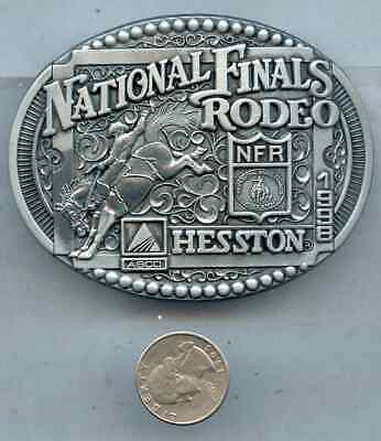 Advertising Hesston NFR National Finals Rodeo Belt Buckle Agco 1998