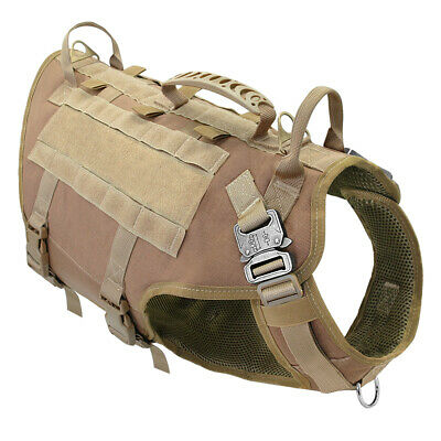 K9 Tactical Working Large Dog Vest Molle Harness Training Military Wear Doberman