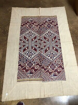 Rare Vintage SE Asian Vietnamese Laotian Tribal Ethnic Textile Weaving