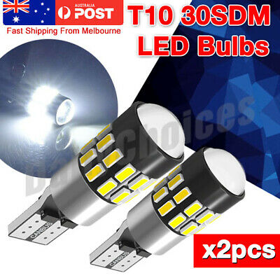 2x T10 Wedge 30SMD Parker Number Plate LED Bulbs W5W 194 168 131 WHITE CAN