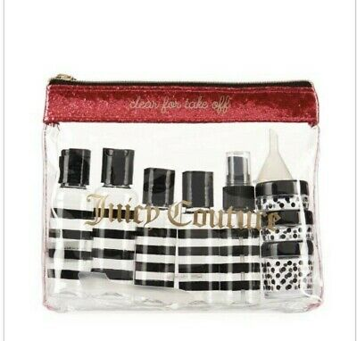 """Juicy Couture 12 Piece """"Clear For Take-Off"""" Travel Kit-NWT"""