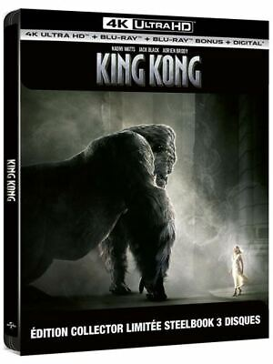 King Kong Steelbook  Blu Ray 4K Ultra Hd + Blu Ray  Neuf Sous Blister