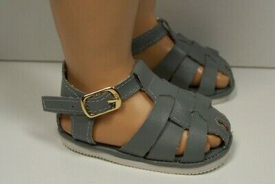 GRAY Fisherman Sandals Doll Shoes For Chatty Cathy (Debs)