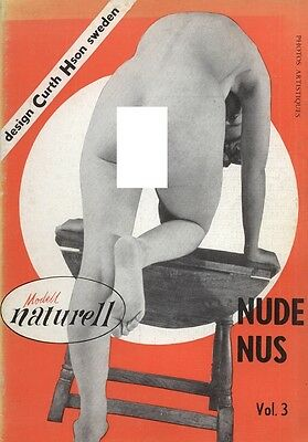 Rare vintage Swedish men's magazine from the 50s: Modell Naturell Nudes