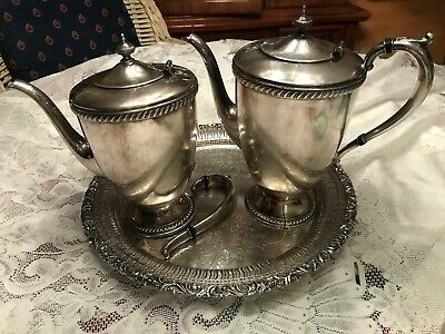 "Vtg Oneida TEA POT & COFFEE POT  Art Deco Community Silver Plate ""as Is"""