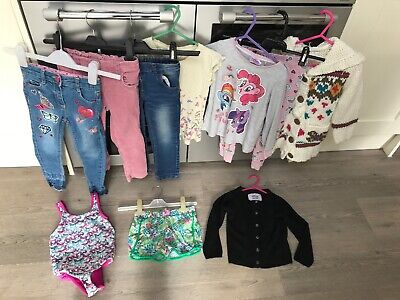 Girls 3-4 Years Clothes Bundle NEXT Skinny Jeans, Cardis, Shorts Summer Holiday
