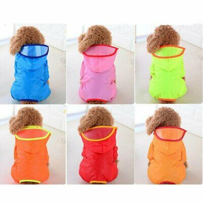 Cute Pet Dog Rain Coat Clothes Puppy Jacket Hooded Waterproof Outdoor Raincoat