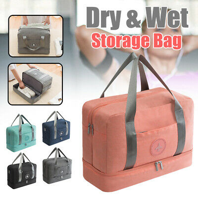 Portable Foldable Travel Luggage Baggage Storage Carry-On Duffle Bag Waterpoof