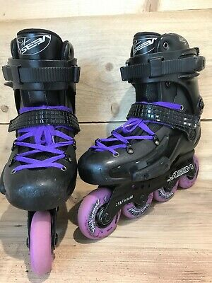 Seba FR X in-line skates UK size 7 free rider roller blades good used condition