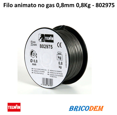 Telwin 802975   Filo animato per saldaltrici no gas 0,8mm