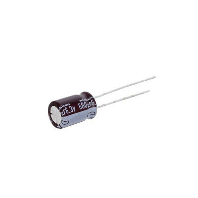10x UPA0J681MPD Capacitor electrolytic Low impedance THT 680uF 6.3V /±20/%