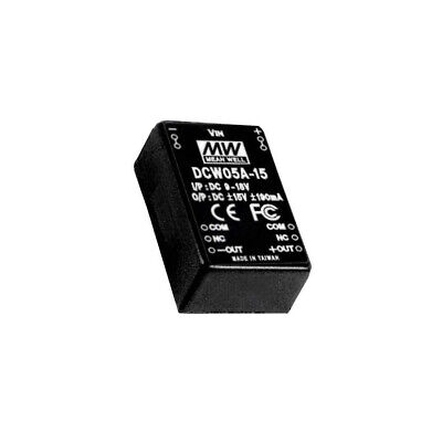 DCW05A-05 Converter DC/DC 5W Uin9÷18V Uout5VDC Uout2-5VDC 15g 50kHz MEANWELL