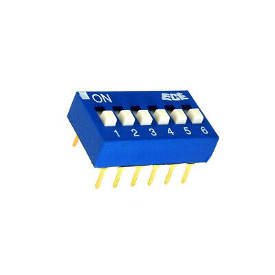 EDG106S Switch DIP-SWITCH Poles number6 ON-OFF 0.1A/24VDC -25÷70°C
