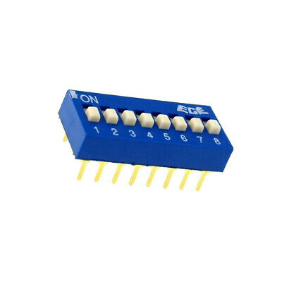 EDG108S Switch DIP-SWITCH Poles number8 ON-OFF 0.1A/24VDC -25÷70°C
