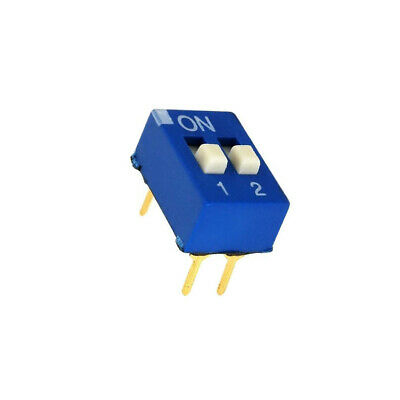 EDG102S Switch DIP-SWITCH Poles number2 ON-OFF 0.1A/24VDC -25÷70°C