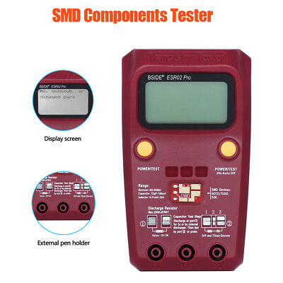 Digital SMD Components Tester 0.01mH to 20H ESR Meter Inductance Durable Tool