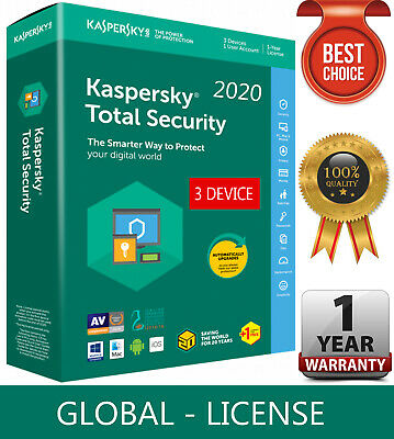 KASPERSKY TOTAL Security 2019 / 3 Device / 1 Year / GLOBAL-KEY /Download 16.35$