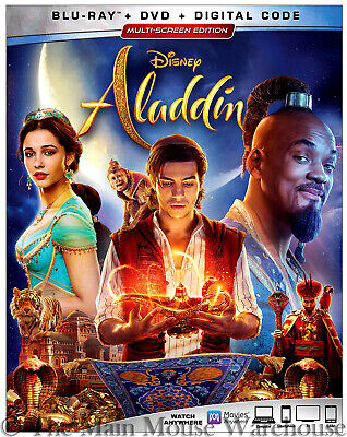 Authentic Disney New Live Action Aladdin Blu-ray DVD & Digital Copy Code