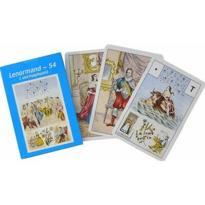 Astro Mythological Lenormand 54 Cards Deck Russian Edition