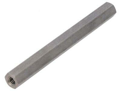 10x TFF-M4X70/DR146 Spacer sleeve Int.thread M4 70mm hexagonal stainless 146X70