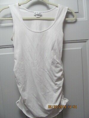 987bb80293a Oh! Mamma Maternity Basic Tank with Side Ruching Size Small White