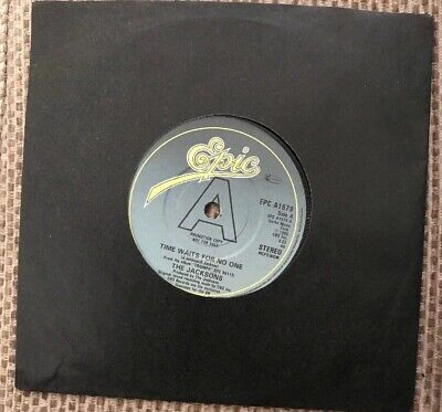 """The Jacksons Time Waits For No One 7"""" Vinyl Promo"""