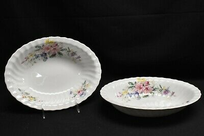 Royal Doulton Arcadia Green Backstamp Pair of Oval Vegetable Bowls